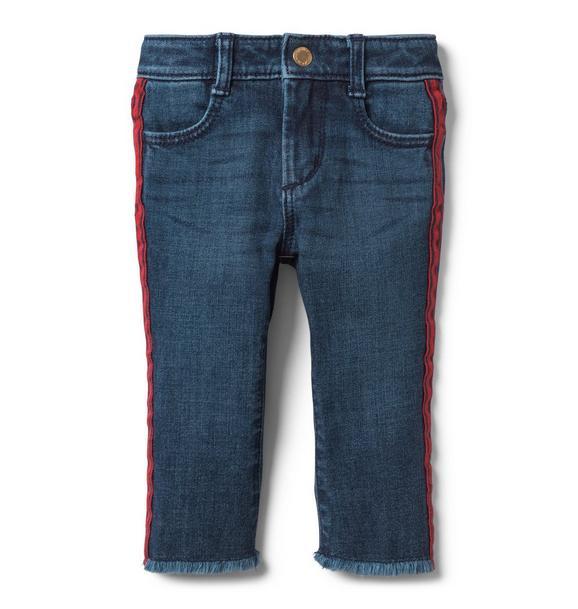 Side Stripe Crop Jean