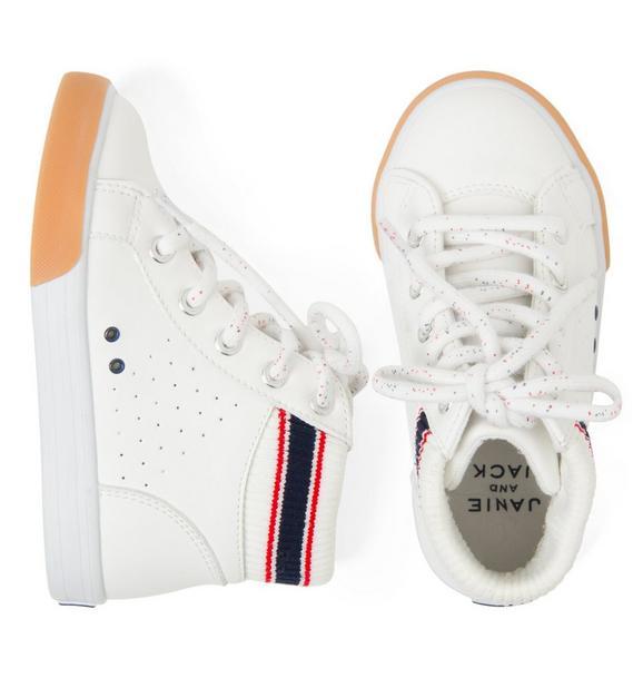 High-Top Striped Sneaker