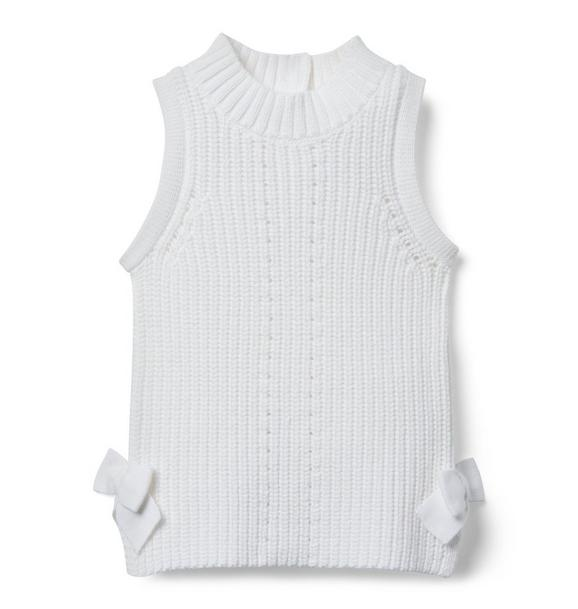 Sleeveless Side Bow Sweater