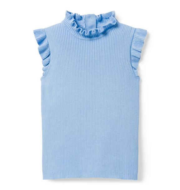 Ruffle Sleeveless Sweater