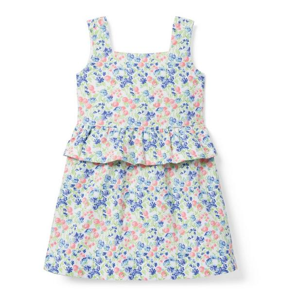 Ditsy Floral Peplum Dress