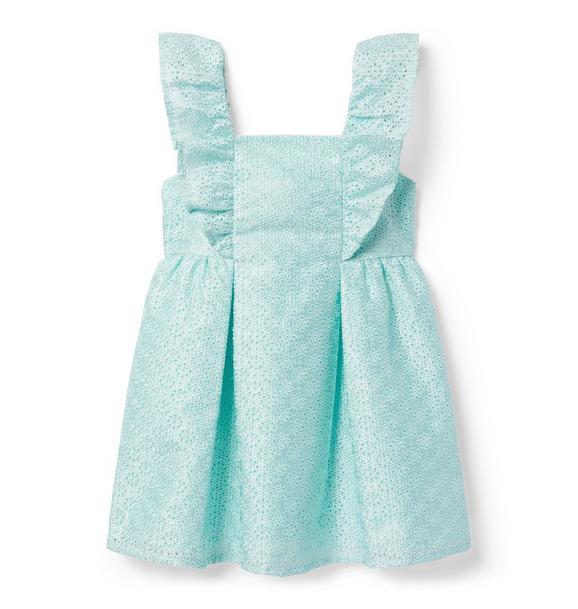 Ruffle Eyelet Dress