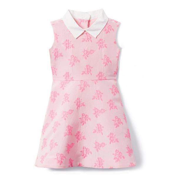 Collared Jacquard Dress