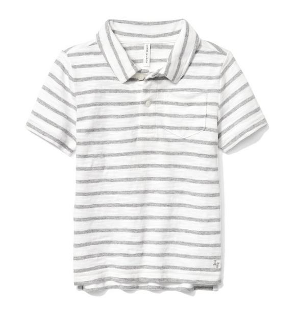 Striped Slub Polo