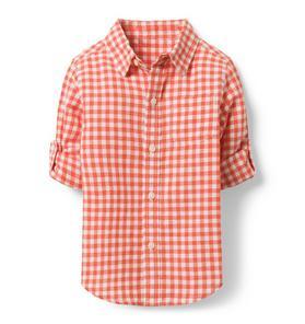 749f1ff9a7 Gingham Linen Shirt