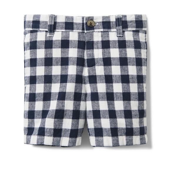 Gingham Linen Short