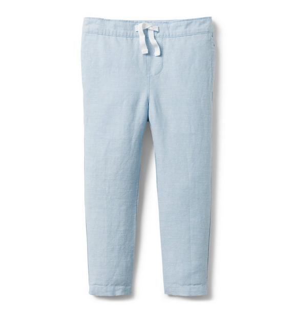 Pull-On Linen Pant