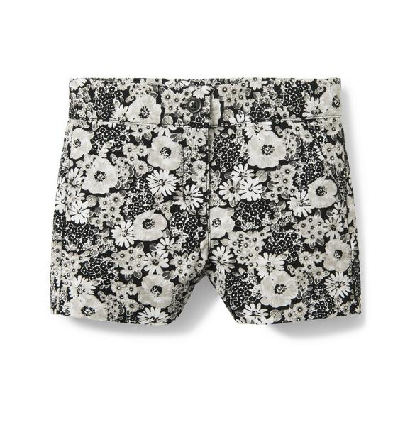 Floral Canvas Short