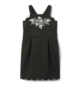 Embroidered Ponte Dress