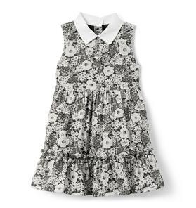 Peter Pan Collar Floral Dress