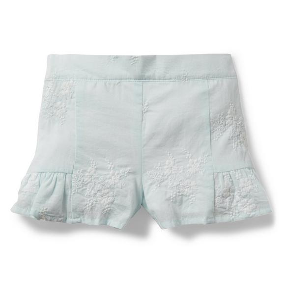Floral Embroidered Short