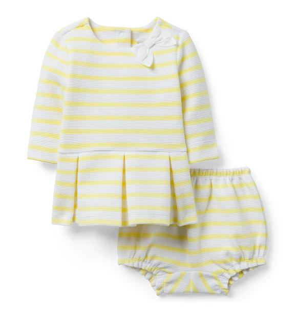 Striped Peplum Matching Set