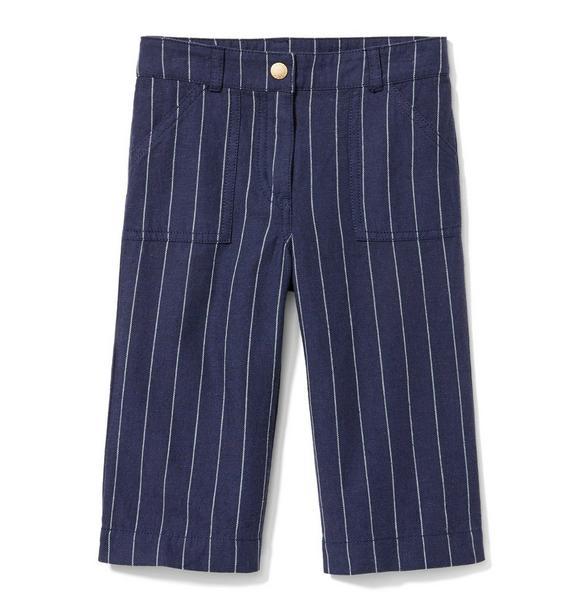 Striped Wide-Leg Pant