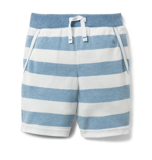Striped Pique Short