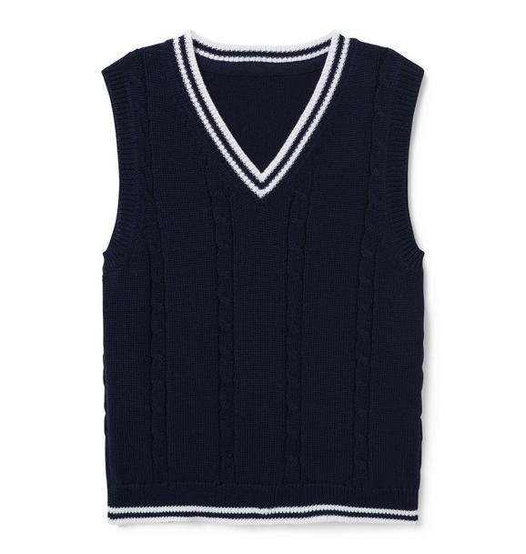 Striped Trim Vest