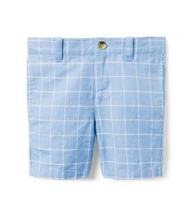 Windowpane Linen Short