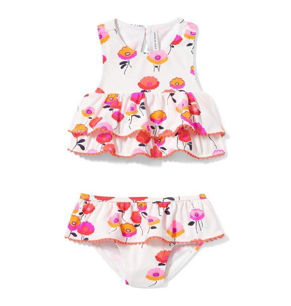 Poppy Ruffle 2-Piece Swimsuit