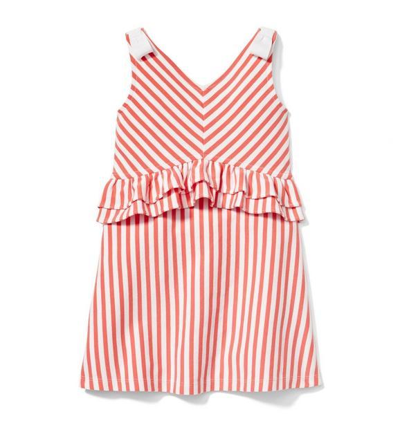 Striped Peplum Ponte Dress