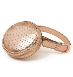 Circle Metallic Belt Bag