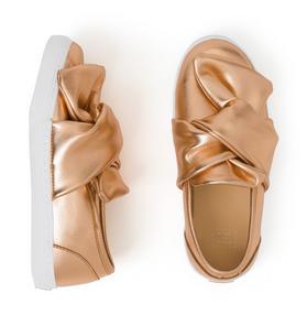 Metallic Knot Slip-On Sneaker