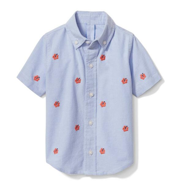 Hibiscus Oxford Shirt