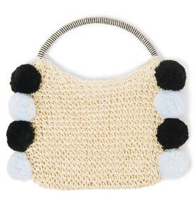 Pom-Pom Straw Bag
