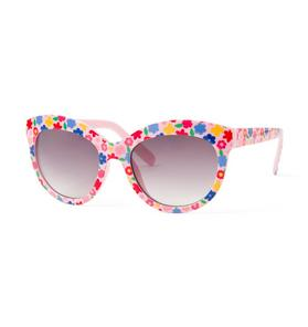 Floral Cat-Eye Sunglasses