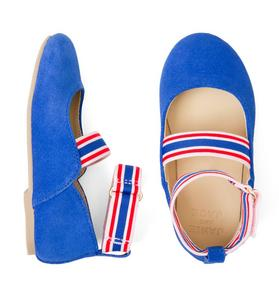 Striped Elastic Strap Flat