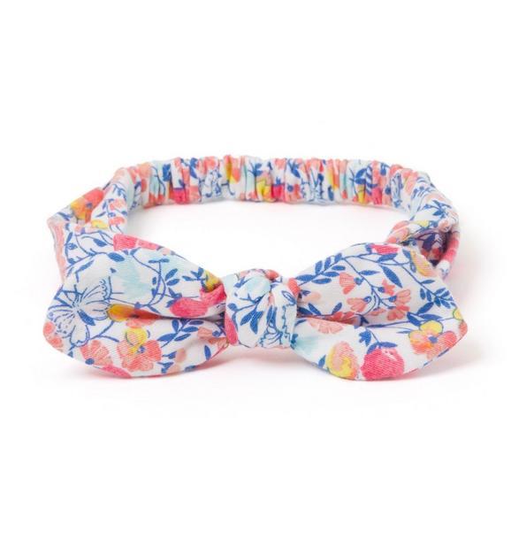 Floral Soft Bow Headband