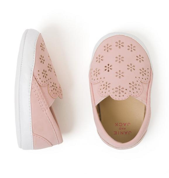 Eyelet Slip-On Crib Shoe