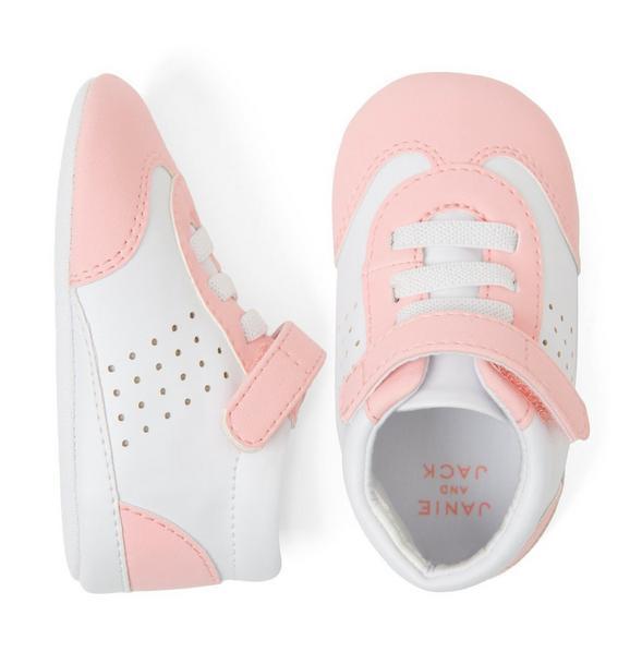 Colorblocked Sneaker Crib Shoe