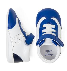 Colorblocked Sneaker Crib Shoe