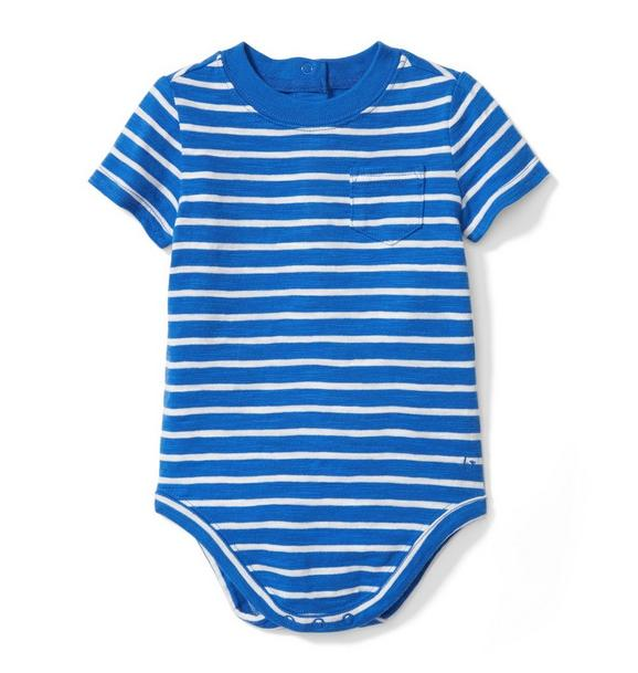 Striped Slub Pocket Bodysuit