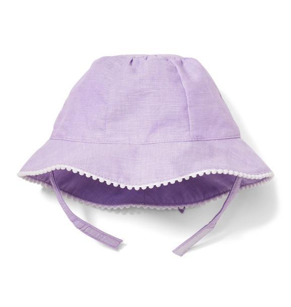 Linen Bow Sun Hat