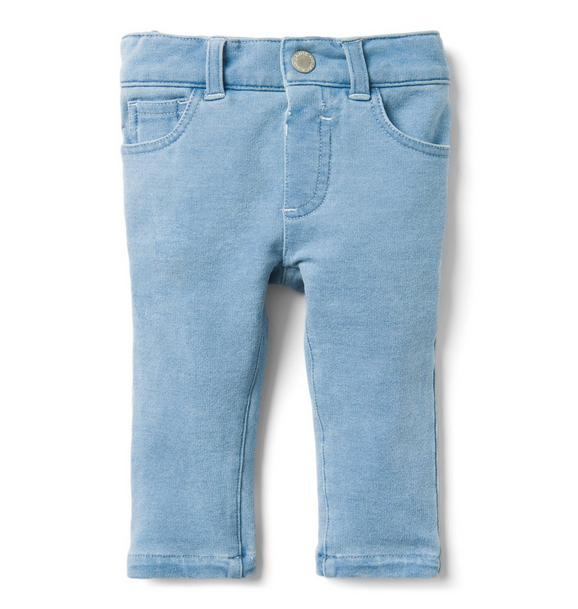Stretch Knit Jean In Pebble Blue Wash