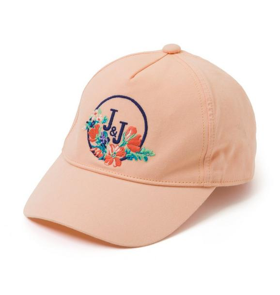 Embroidered Floral Logo Cap