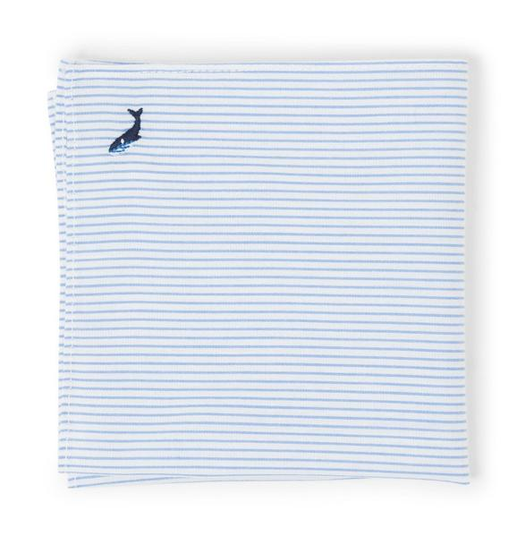 Striped Embroidered Pocket Square