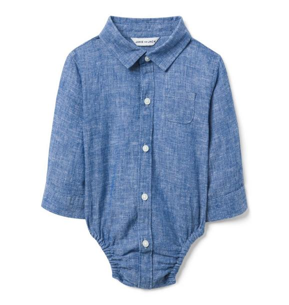Chambray Linen Bodysuit