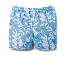 Fern Print Swim Trunk