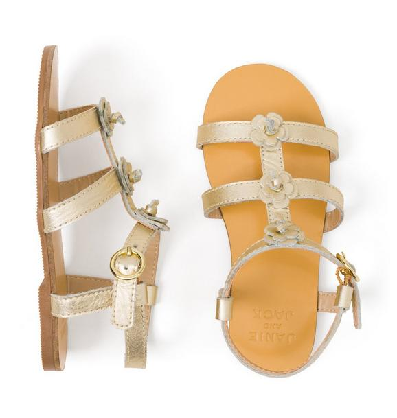 AERIN Metallic Flower Sandal