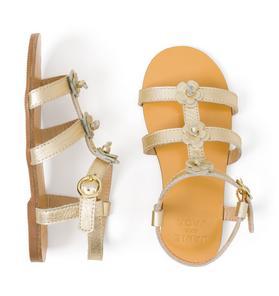 AERIN Metallic Flower Sandal