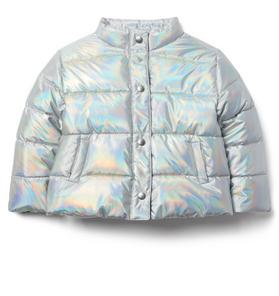 Iridescent Puffer Jacket