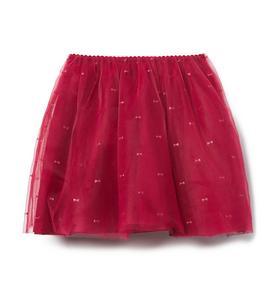 Shimmer Bow Tulle Skirt