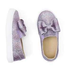 Shimmer Bow Slip-On Sneaker