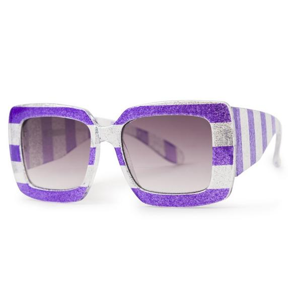 Juno Valentine Shimmer Striped Sunglasses