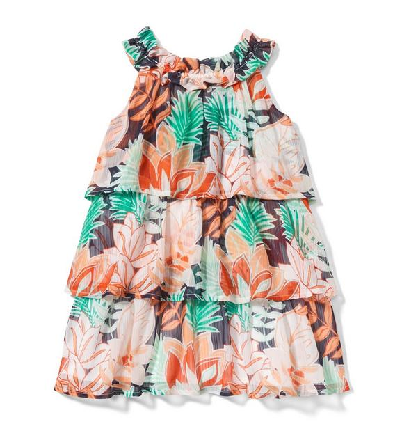 Tropical Tiered Dress