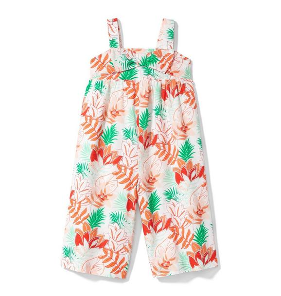 Tropical Wide-Leg Jumpsuit