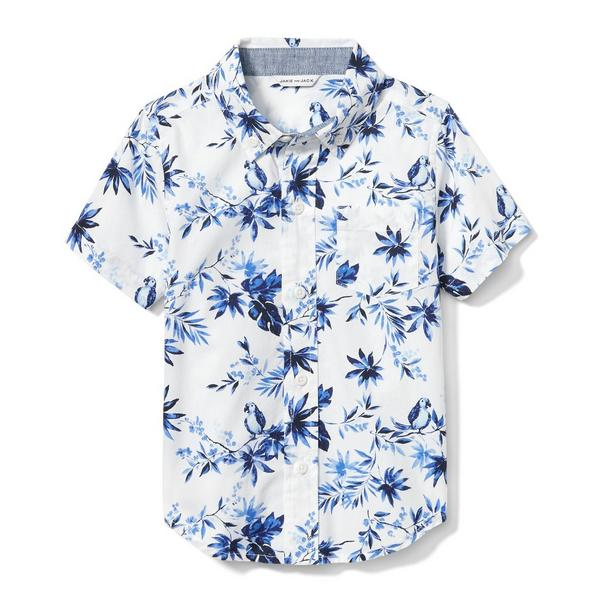 Parrot Palm Shirt by Janie And Jack
