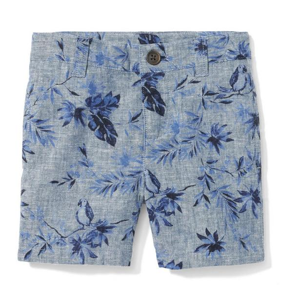 Parrot Palm Chambray Short