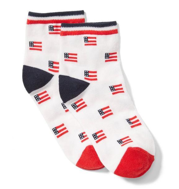 Colorblock American Flag Sock